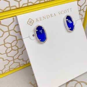 Kendra Scott Jewelry - New Kendra Scott Ellie Silver Cobalt Cats Eye